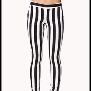Forever 21 Striped Skinny Pants